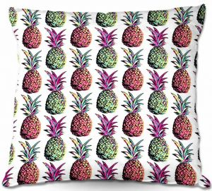 Throw Pillows Decorative Artistic | Organic Saturation's Pineapple Party