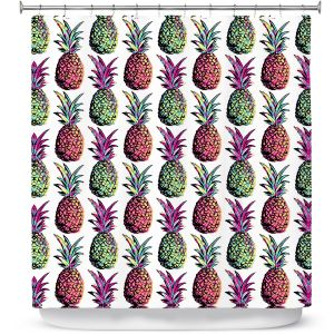 Premium Shower Curtains | Organic Saturation Pineapple Party
