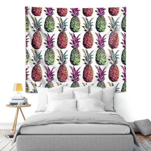 Artistic Wall Tapestry | Organic Saturation Pineapple Party