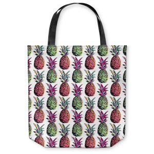 Unique Shoulder Bag Tote Bags | Organic Saturation Pineapple Party