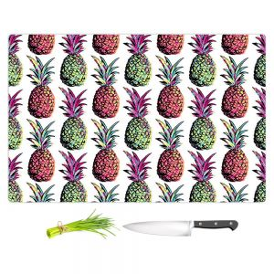 Artistic Kitchen Bar Cutting Boards | Organic Saturation - Pineapple Party