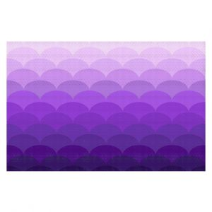 Decorative Floor Coverings | Organic Saturation - Purple Ombre Scales