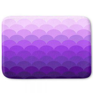 Decorative Bathroom Mats | Organic Saturation - Purple Ombre Scales