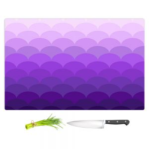 Artistic Kitchen Bar Cutting Boards | Organic Saturation - Purple Ombre Scales