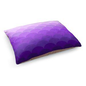 Decorative Dog Pet Beds | Organic Saturation - Purple Ombre Scales
