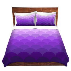 Artistic Duvet Covers and Shams Bedding | Organic Saturation - Purple Ombre Scales