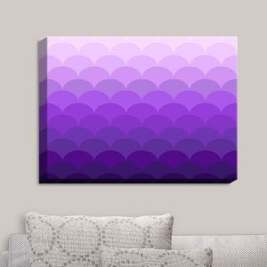 Decorative Canvas Wall Art | Organic Saturation - Purple Ombre Scales