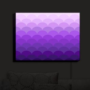 Nightlight Sconce Canvas Light | Organic Saturation - Purple Ombre Scales | Abstract Patterns