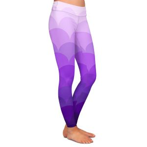 Casual Comfortable Leggings | Organic Saturation - Purple Ombre Scales