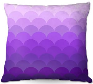 Decorative Outdoor Patio Pillow Cushion | Organic Saturation - Purple Ombre Scales