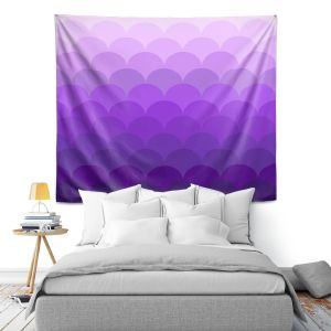 Artistic Wall Tapestry | Organic Saturation - Purple Ombre Scales
