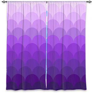 Decorative Window Treatments | Organic Saturation - Purple Ombre Scales