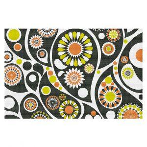 Decorative Floor Coverings | Organic Saturation Retro Paisley