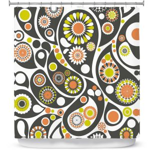Premium Shower Curtains | Organic Saturation Retro Paisley