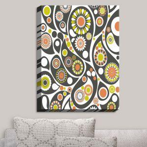 Decorative Canvas Wall Art | Organic Saturation - Retro Paisley