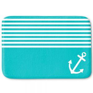 Decorative Bathroom Mats | Organic Saturation - Teal Love Anchor Nautical