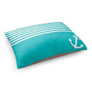 Decorative Dog Pet Beds | Organic Saturation's Teal Love Anchor Nautical