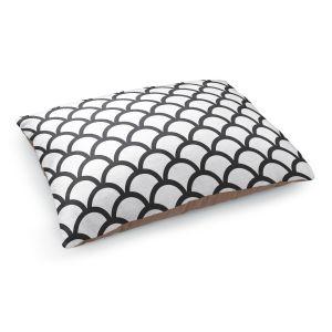 Decorative Dog Pet Beds | Organic Saturation's White Scallop Pattern