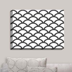 Decorative Canvas Wall Art | Organic Saturation - White Scallop Pattern