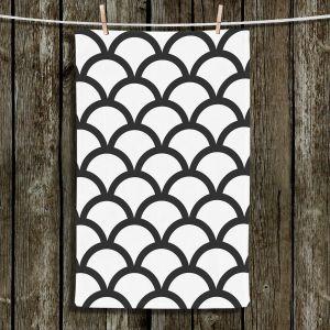 Unique Bathroom Towels | Organic Saturation - White Scallop Pattern