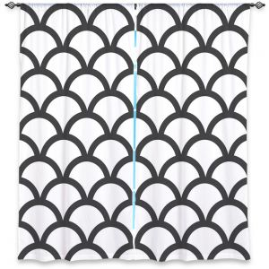 Decorative Window Treatments | Organic Saturation White Scallop Pattern