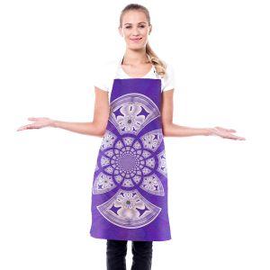 Artistic Bakers Aprons   Pam Amos - Daisy Tile Purple   Geometric