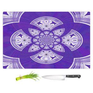 Artistic Kitchen Bar Cutting Boards | Pam Amos - Daisy Tile Purple | Geometric