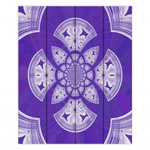 Decorative Wood Plank Wall Art | Pam Amos - Daisy Tile Purple | Geometric