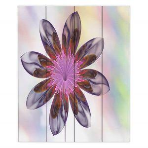 Decorative Wood Plank Wall Art | Pam Amos - De Bois 2 | Abstract Flower
