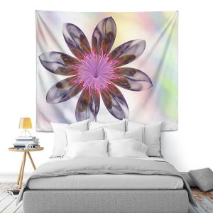 Artistic Wall Tapestry   Pam Amos - De Bois 2   Abstract Flower
