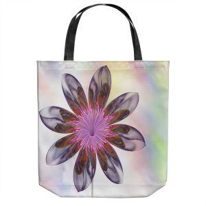 Unique Shoulder Bag Tote Bags | Pam Amos - De Bois 2 | Abstract Flower