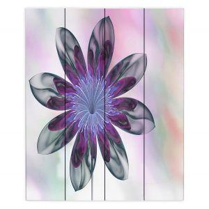 Decorative Wood Plank Wall Art | Pam Amos - De Bois 3 | Abstract Flower