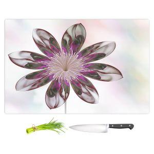 Artistic Kitchen Bar Cutting Boards | Pam Amos - De Bois 6 | Abstract Flower
