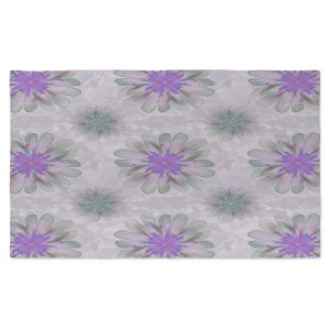 Artistic Pashmina Scarf | Pam Amos - Abstract Flower Tile Violet | repetition floral