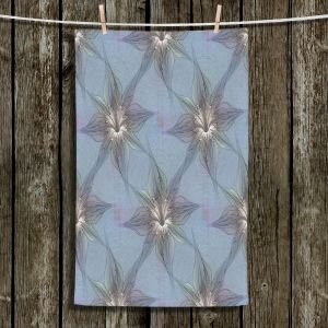 Unique Bathroom Towels | Pam Amos - Blue Orchid | Flower pattern repetition