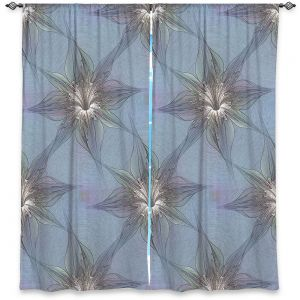 Decorative Window Treatments | Pam Amos - Blue Orchid | Flower pattern repetition