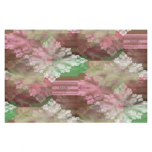 Decorative Floor Covering Mats | Pam Amos - Crystal in Pink | Gem pattern abstract