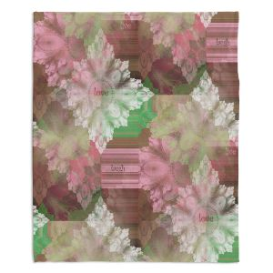 Decorative Fleece Throw Blankets | Pam Amos - Crystal in Pink | Gem pattern abstract