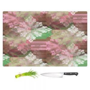 Artistic Kitchen Bar Cutting Boards | Pam Amos - Crystal in Pink | Gem pattern abstract