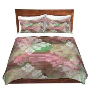 Artistic Duvet Covers and Shams Bedding   Pam Amos - Crystal in Pink   Gem pattern abstract