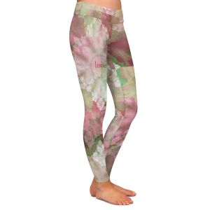 Casual Comfortable Leggings | Pam Amos - Crystal in Pink | Gem pattern abstract