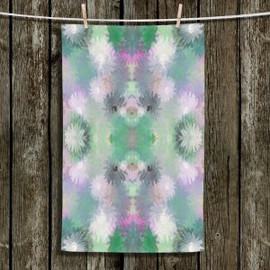 Decorative Hand Towel from DiaNoche Designs by Pam Amos - Daisy Blush 1 Emerald Pink