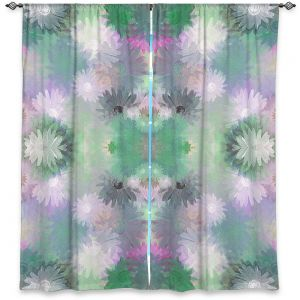 Decorative Window Treatments | Pam Amos - Daisy Blush 1 Emerald Pink | repetition geometric mandala flower
