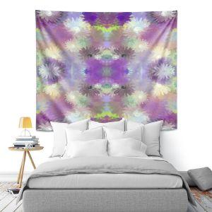 Artistic Wall Tapestry   Pam Amos - Daisy Blush 1 Violet   repetition geometric mandala flower