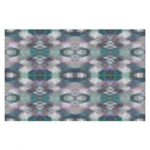 Decorative Floor Covering Mats | Pam Amos - Daisy Blush 2 Greens | repetition geometric flower