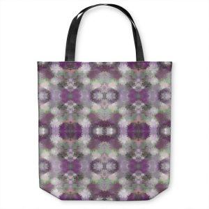 Unique Shoulder Bag Tote Bags | Pam Amos - Daisy Blush 2 Plum | repetition geometric flower