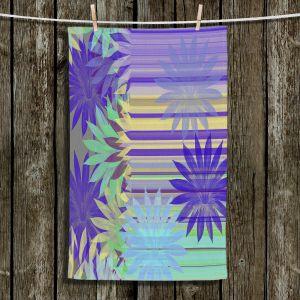 Unique Bathroom Towels   Pam Amos - Delicious Blues   pattern digital flowers
