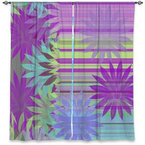Decorative Window Treatments | Pam Amos - Delicious Purples | pattern digital flowers