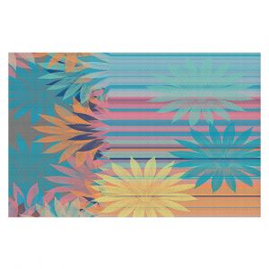 Decorative Floor Covering Mats | Pam Amos - Delicious Tropical | pattern digital flowers