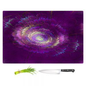 Artistic Kitchen Bar Cutting Boards | Pam Amos - Dust Purple Floral | Galaxy space pattern circle swirl